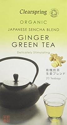Clearspring Thé Vert Japonais Biologique au Gingembre et Mélange de Sencha 40 g