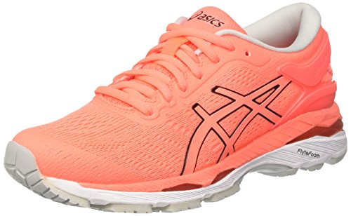 ASICS Damen Gel-Kayano 24 Laufschuhe, Pink (Flash Coral/Black / White), 38 EU