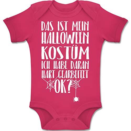 Shirtracer Anlässe Baby - Das ist Mein Halloween Kostüm - 12-18 Monate - Fuchsia - BZ10 - Baby Body Kurzarm Jungen Mädchen (Die Besten Halloween-kostüme 2019 Für Gruppen)