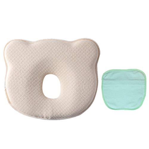 BESTHOO Baby Kopfkissen Baby Kissen Neugeborenen Stillkissen für Baby und Kleinkind Kopf Unterstützung & Flat Head Syndrom Prävention Memory Foam Pillow (Farbe : Blau) - Baby-kissen Head Flat