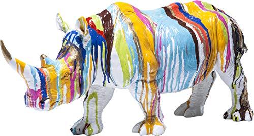 Kare design - Statue Déco Rhinocéros multicouleur