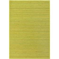 LOLAhome Alfombra de salón o Comedor Oriental Verde de bambú de 140 x 200 cm Sol Naciente, 140x200