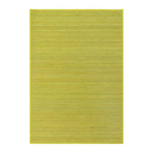 Alfombra de salón o comedor oriental verde de bambú de 140 x 200 cm Sol Naciente - Lola Derek