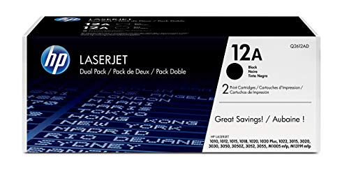 12AD) Schwarz Original Toner für HP Laserjet 1010, 1020, 1022, 3015, 3050, 3055 ()
