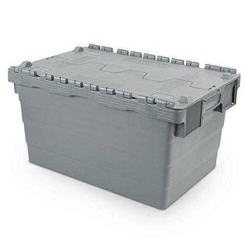Mehrwegbehälter 600x400x320, mit Klappdeckel, 60 Liter