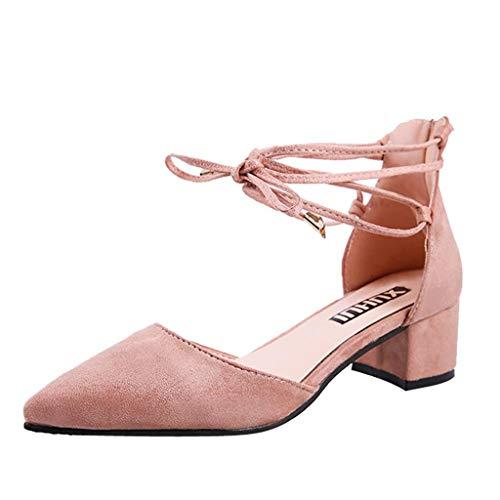 QUICKLYLY Zapatos Tacón Alto/Plataforma/Abiertos