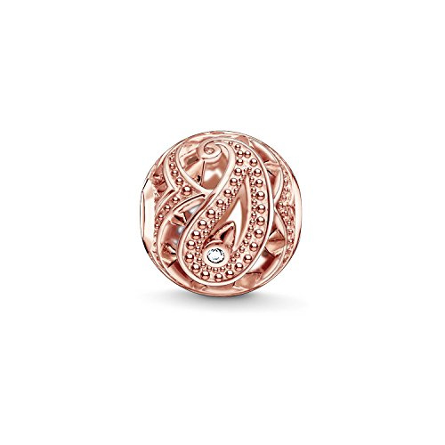 Thomas Sabo Damen-Bead Paisley Rosé Karma Beads 925 Sterling Silber K0217-416-14