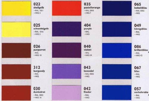 Oracal Orafol 651 Folie 5m freie Farbwahl 60 glänzende Farben in 4 Größen, 31,5 cm Farbe 10 - 6