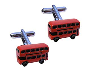 Red Double Decker Bus Cufflinks - Gift Boxed