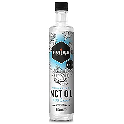 MCT Oil from Pure Coconut. Keto Diet - 500ml - Bulletproof Coffee - C8 & C10 - Flavorless & Odourless MCT Oil from Hunter & Gather