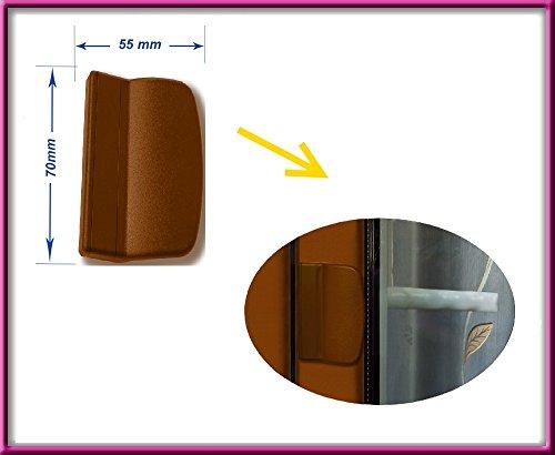 SI Siegenia Loquet pour balcon A1361 + Poignée Balcon de traction CHÊNE BROWN