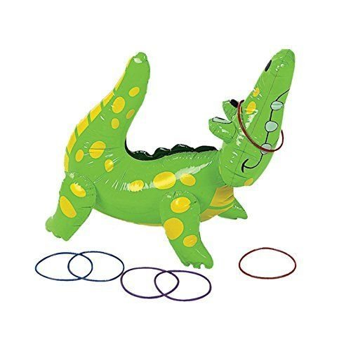 Fun Express Inflatable Alligator Ring Toss Game, 22 , Vinyl