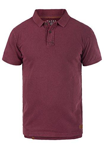 Blend Camper Herren Poloshirt Polohemd T-Shirt Shirt Mit Polokragen Aus 100% Baumwolle, Größe:XXL, Farbe:Zinfandel (73006) -