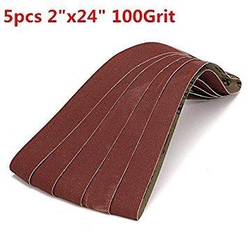 Rishil World 5pcs 5x106cm 100 Grit Alumina Sanding Belts Self Sharpening Oxide Abrasive Strips