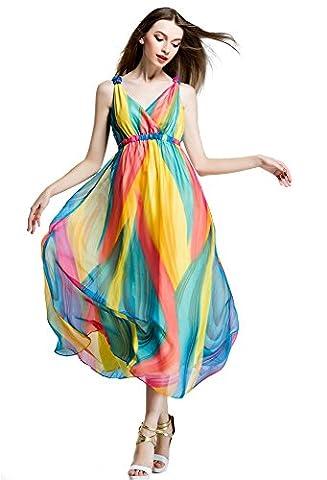 Years Calm - Robe - Trapèze - Sans Manche - Femme multicolore multicolore - multicolore - 40