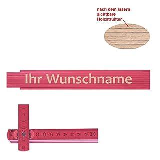 Zollstock pink Ihr Wunschname