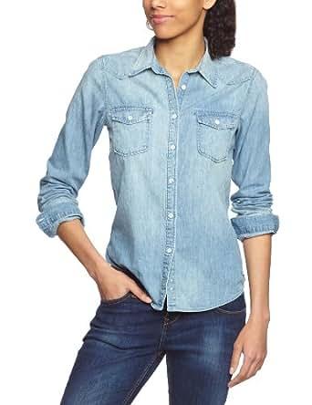 Scotch soda maison damen jeanshemd 13251220702 western shirt 6 oz japanese denim gr 42 - Jeanshemd lang damen ...