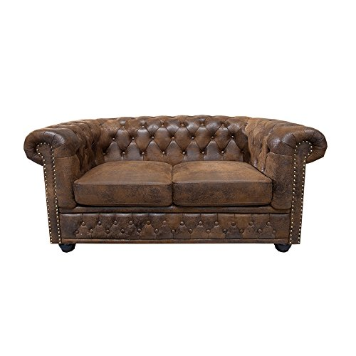 Invicta Interior 17109 Chesterfield Sofa 2-er, Antik Look -