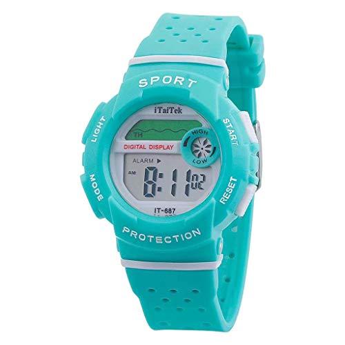friendGG_Armbanduhren Multifunktionssport-Digitale elektronische Tarnung-Wasserdichte Art- und Weiseuhr-Multifunktionsleuchtende und Freizeit-Quadrat-wildes einzigartiges einfachen Trend auf -