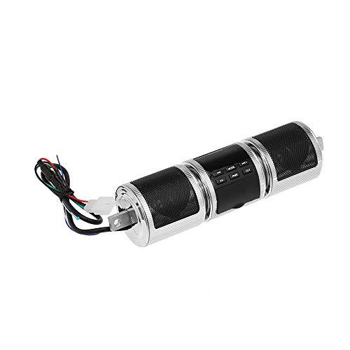KKmoon Altavoz BT Impermeable para Manillar de Motocicleta, Reproductor de Musica MP3,...