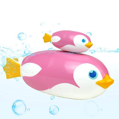 Jouet Bain Enfants Jeu Pingouin Bain Jeux Educatif Fille Garcon 3 Ans (Rose)