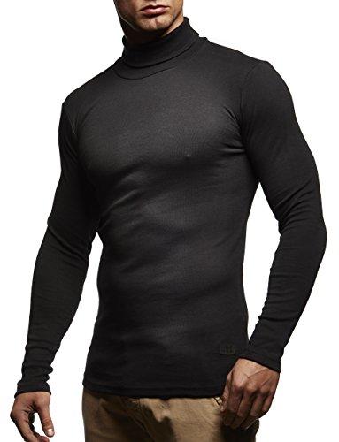 Herren Rollkragenpullover Pullover Rollkragen Hoodie T-Shirt Slim Fit; Größe XL, schwarz (Rollkragen Schwarzen Shirt)