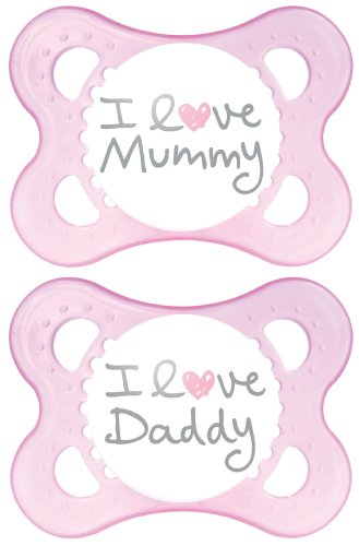 MAM Style I Love Mummy and Daddy Soother _PARENT 418 2BNx8UrHL