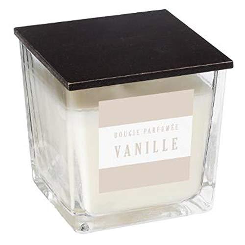 Paris Prix - Bougie Parfumée Carrée Gladys 180g Vanille