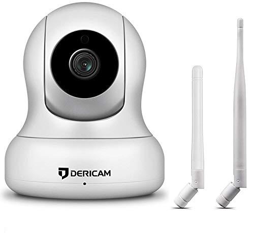 1080P Home Wireless Überwachungskamera, Pan/Tilt Control, 4X Digitalzoom, Nachtsicht und Zwei-Wege-Gespräch, Baby Pet Veranda Monitor, 2018 aktualisierte Alternative Antenne Version (Weiß)