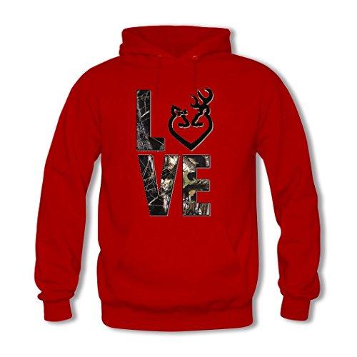 weileDIY Browning DIY Custom Women's Classic Hoodie Sweatshirt Red