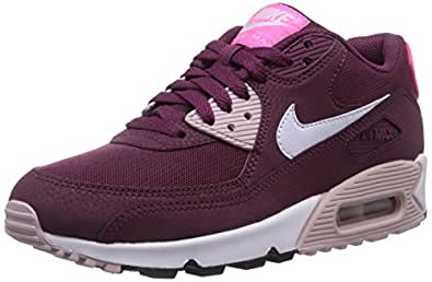 Nike Air Max 90 Essential, Baskets Basses Femme, Rouge (Villain Red/White/Champagne/Pink PW 600