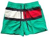 Tommy Hilfiger Herren Badehose mit Kordelzug Flag Gr. XL, grün