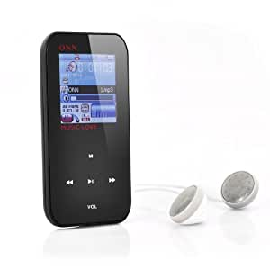 ONN Q2 - Lecteur MP3+MP4 / Écran LCD 1,5 pouces / Mémoire interne 4GB / Radio FM