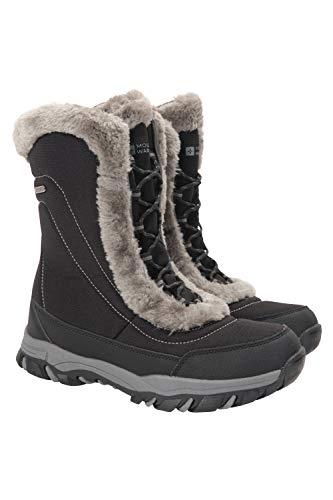 Mountain Warehouse Ohio - Stivali da Neve Donna Resistente alla Neve -Rivestimento Isotermico e Suola in Gomma per Un Maggiore Comfort Nero 41