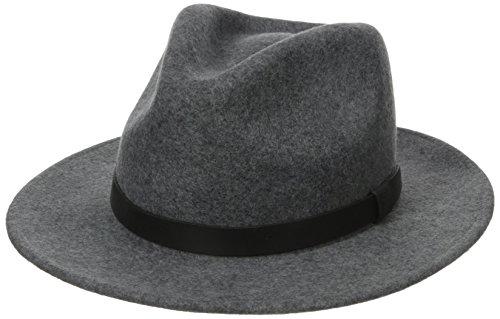 Brixton Hat Messer, Heather Grey, L, BRIMHATMES (Baumwolle-wolle Männer, Für Fedora-hüte)
