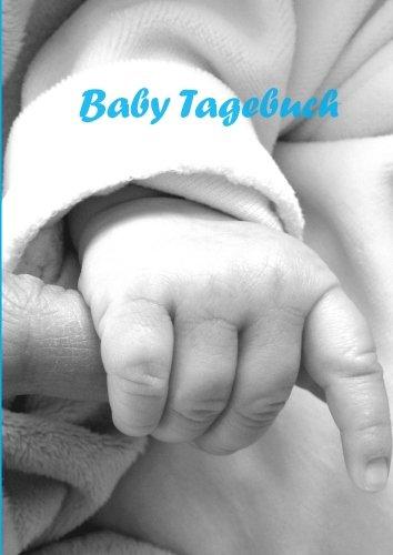 (Notizbuch - A4 - liniert - Babytagebuch: blau - ein Junge)