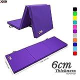 Xn8 Sports Yoga Tri Folding 6cm Over 2 inches Thick Foam Mats Yoga