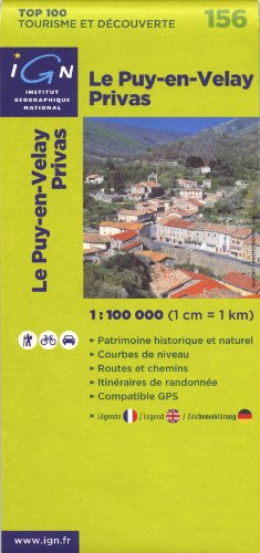 Le Puy-en-Velay Privas : 1/100 000