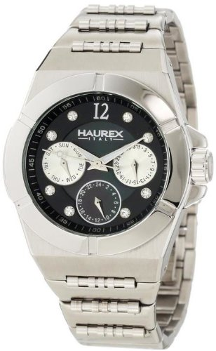 Haurex Italy 7A340DNM Yacht Lady Black Dial Watch