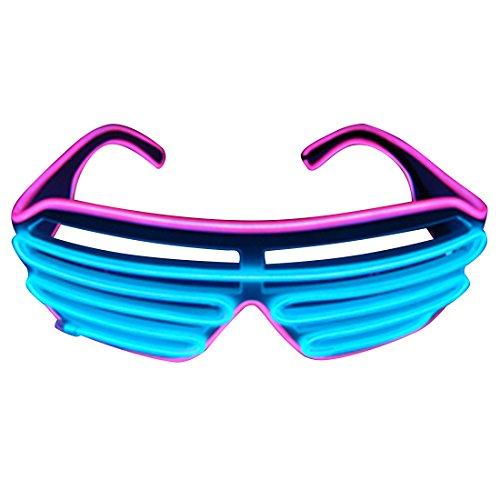 1ps Fashion Double Color Led Lighting Flash Shutter Glasses