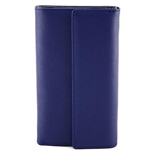 Portafoglio Donna In Pelle Saffiano Colore Blu - Pelletteria Toscana Made In Italy - Accessori