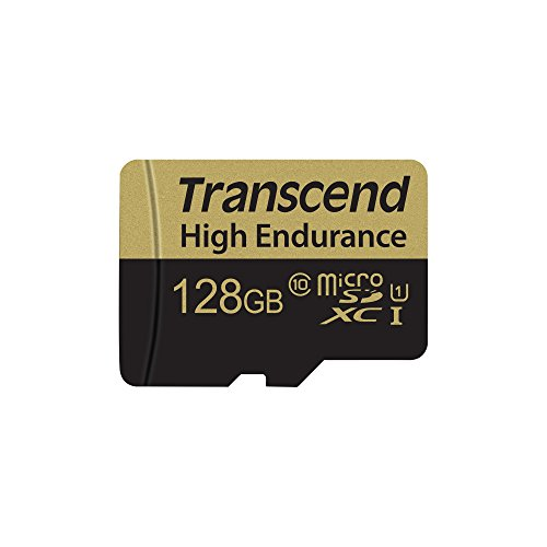 Transcend TS128GUSDXC10V Information 128GB High Endurance MicroSD Memory Card with Adapter