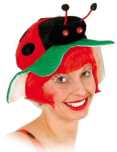 Hut: Käfer-Hut, schwarz-rot, mit Marienkäfer (Marienkäfer Hut)