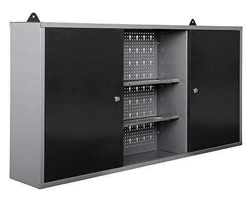 Ondis24 Werkstatteinrichtung Werkstatt Werkbank 120 cm breit mit höhenverstellbaren Füßen und passender Werkzeugschrank 120 cm breit mit 2 Ablagen, abschließbare Türen - 6