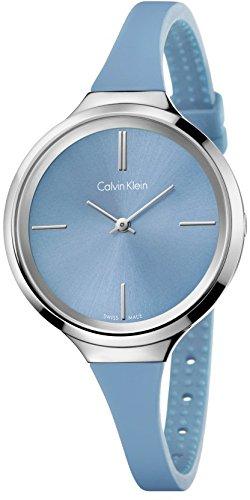 Calvin Klein Damen-Armbanduhr Analog Quarz Kautschuk K4U231VX