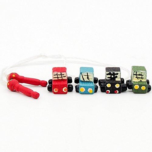 Odoria 1/12 Miniatur 4 Stück Holz Autos und 1 Seilspringen Für Puppenhaus Dekoration Zubehör