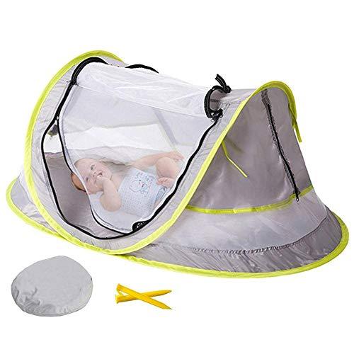Volwco Baby Strand Zelt, Baby Moskitonetz, tragbar, Pop-Up-Strand/Babyzelt, UV-Schutz, LSF 50, leicht, für Outdoor-Reisen, Babybett, und 2 Heringe