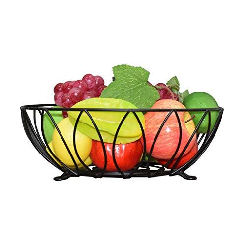 LIXBD Kitchenware/Tableware Nordische runde Hohle Eisen-Obstschale große Fruchtschale der Kapazität 30 * 10cm