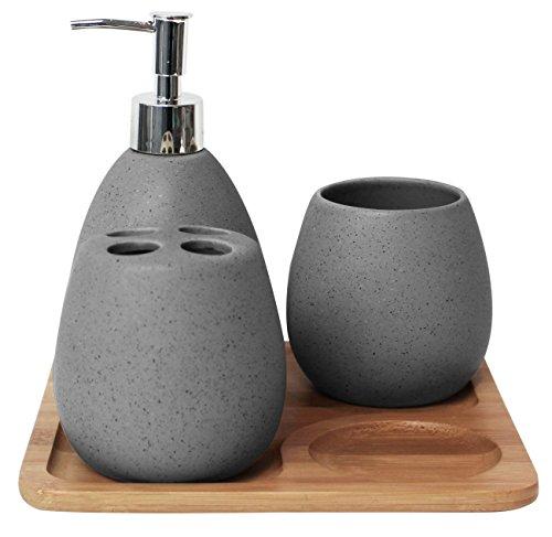 Esprit Bamboo Bad-Accessoires Bad-Set Grey