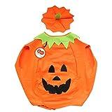 SYMTOP Halloween Disfraz Traje de Calabaza para Adulto para Fiestas Gorro Incluido